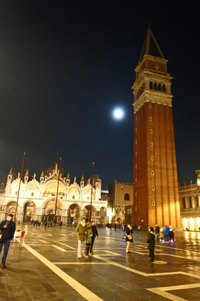 Piazza San Marco in Venice by night