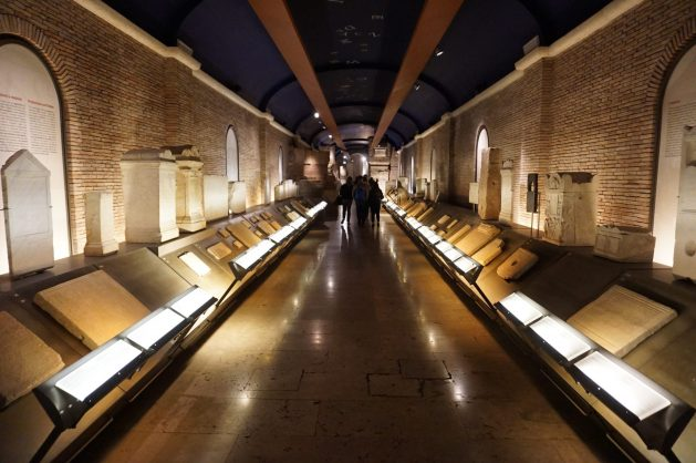 Gallery at the Musei Capitolini in Rome, Italy