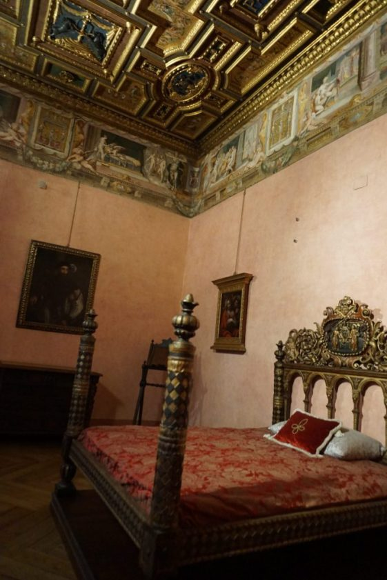 Pope's bed in Castel Sant'Angelo