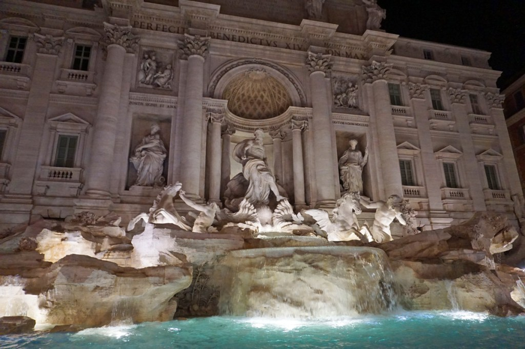 Trevi Fountain at night - two-day Rome Interary