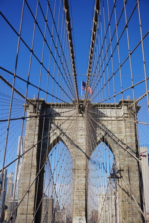 Walking across the Brooklyn Bridge - Things to do in NYC