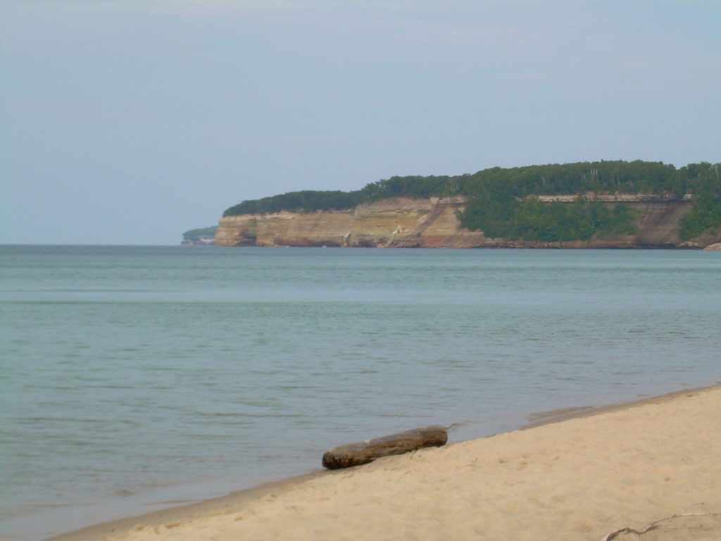 Beach in Pictured Rocks National Lakeshore in Michigan - Lake Superior Beaches in Michigan