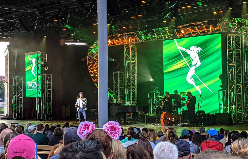 Kevin Massey performing at the Disney on Broadway series at Epcot's Festival of the Arts