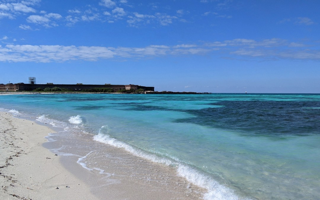Sandy shore along Bush Key in the Dry Tortugas