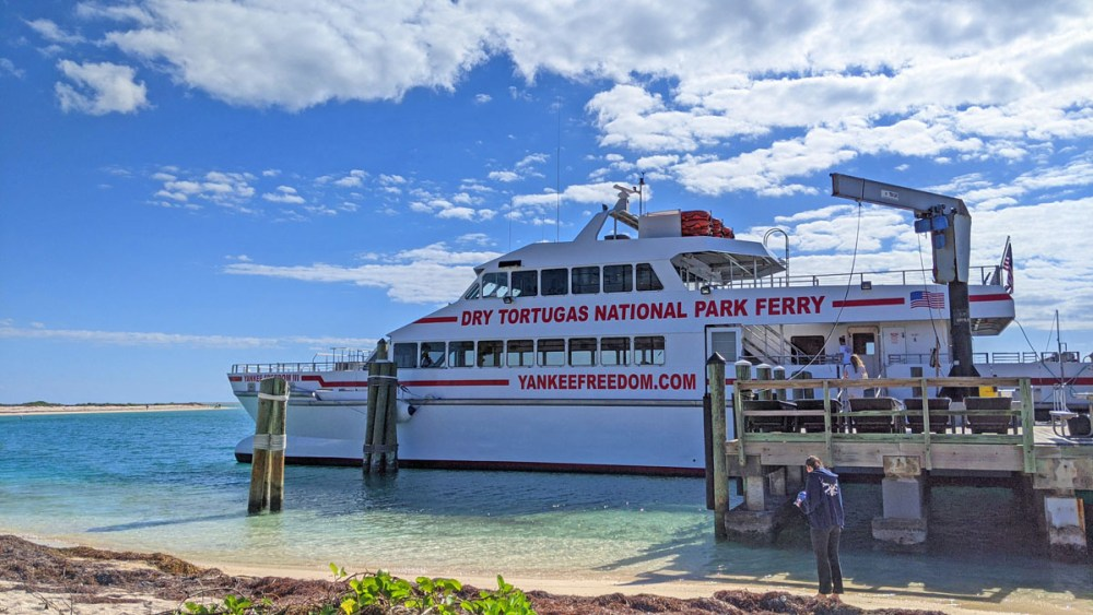Dry Tortugas ferry boat docked in Dry Tortugas National Park