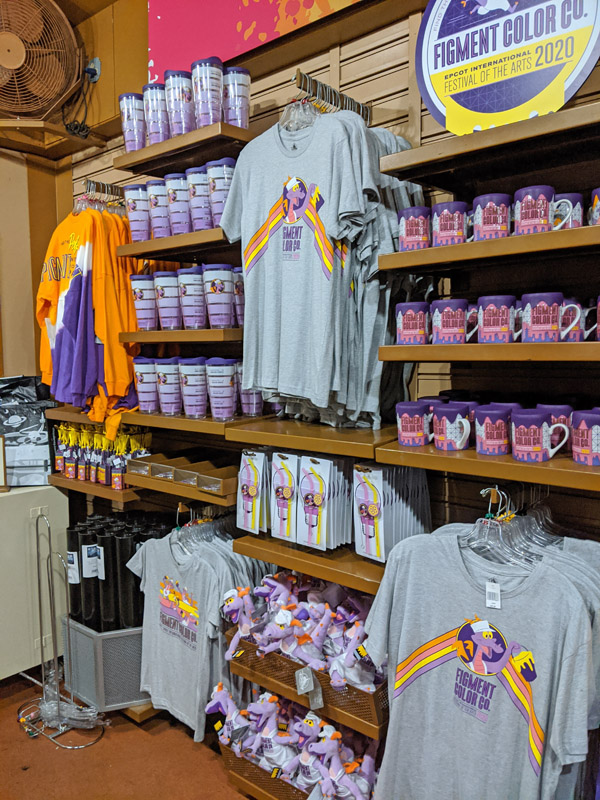 Figment merchandise at the Festival of the Arts
