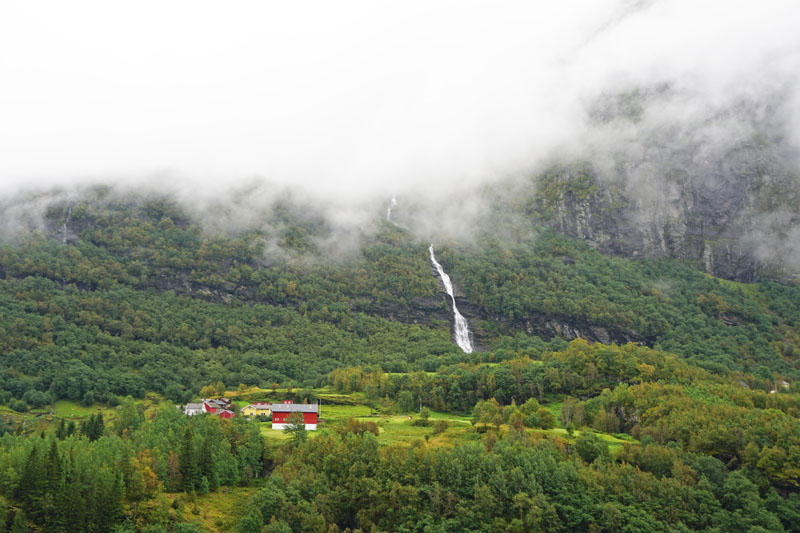 View from the Myrdal to Flam train in Norway
