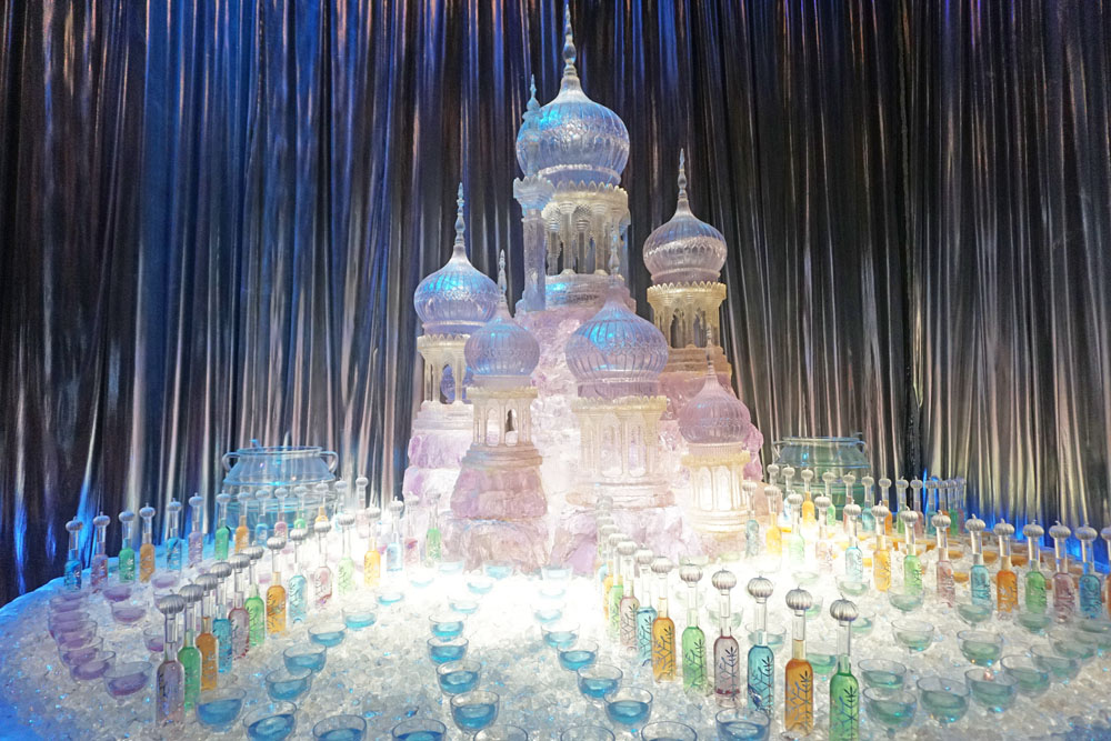 Ice sculpture and drinks from the Yule Ball