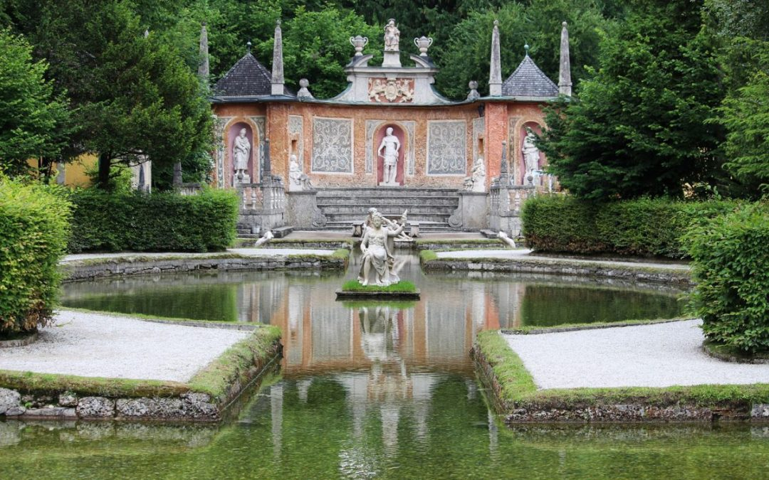 One of the Hellbrunn Palace trick fountains