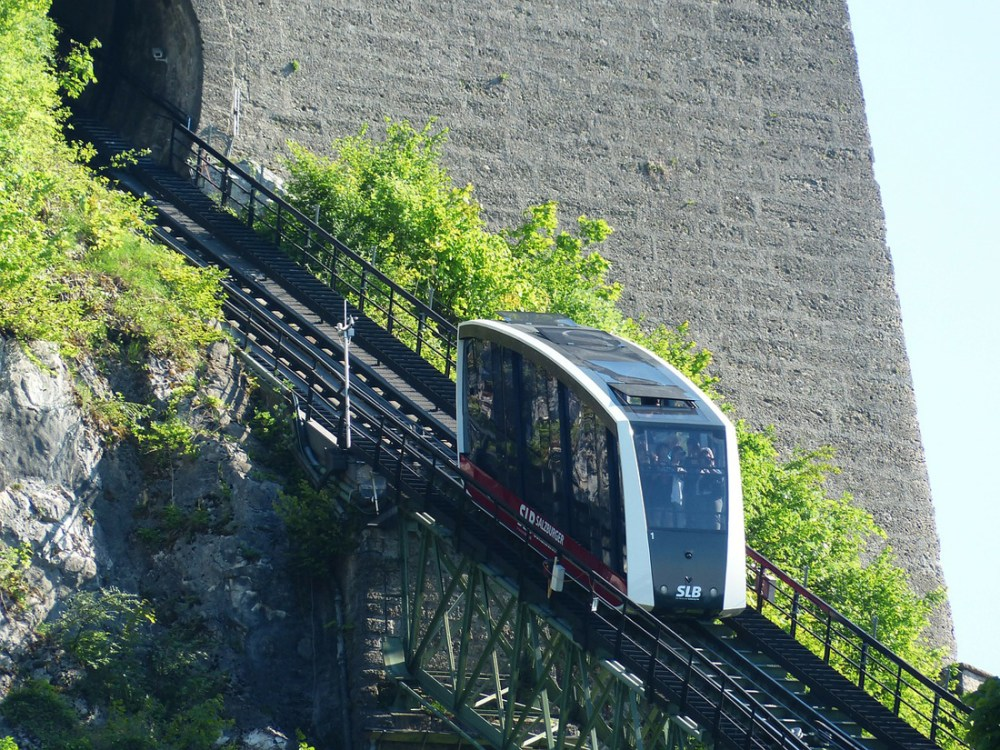 Inclined railway to Hohensalzburg Castle