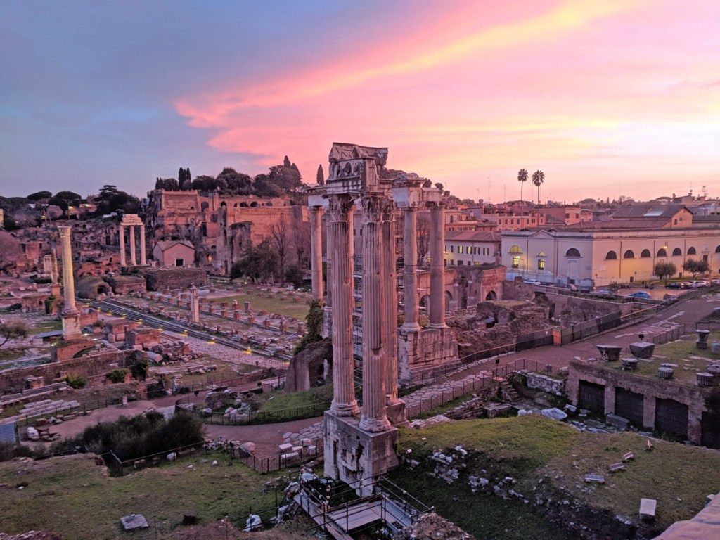 Sunset over the Roman Forum
