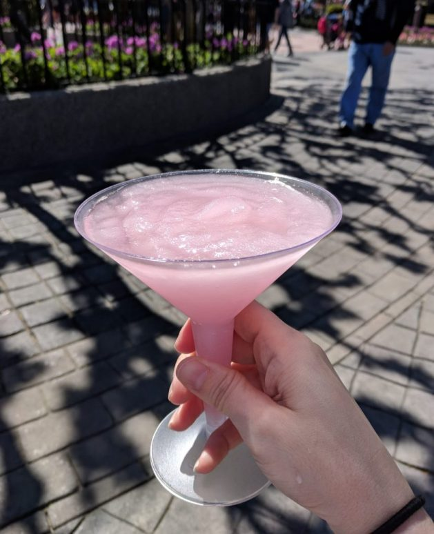 Grey Goose vodka slush at the Epcot Flower and Garden Festival - best drinks at the Epcot Flower and Garden Festival
