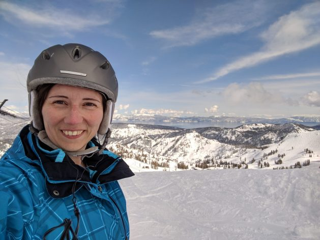 Skiing for free at Squaw Valley at Lake Tahoe