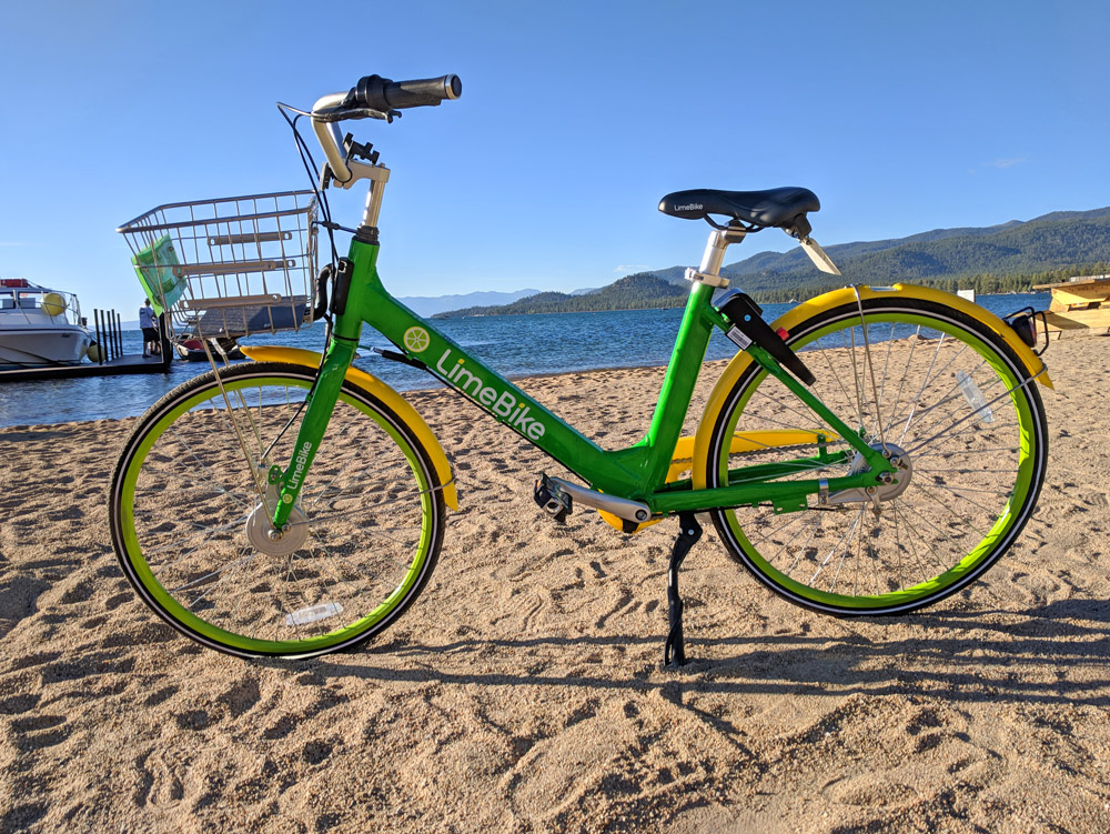 Lime Bike Rentals in South Lake Tahoe, California