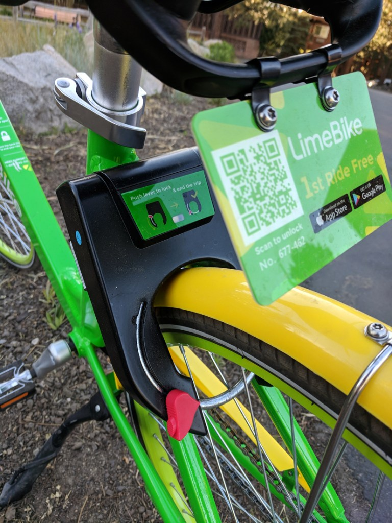 LimeBikes - Great summer activity in South Lake Tahoe, California