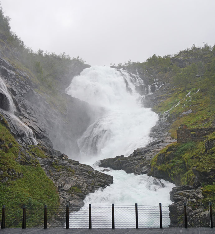 Kjosfossen waterfall on the Flamsbana