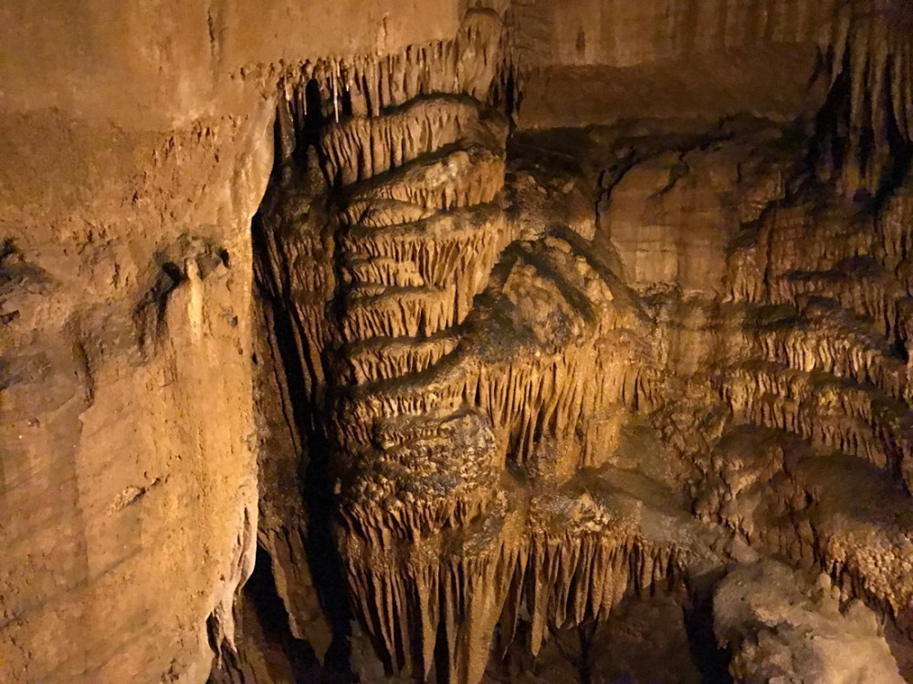 Formations inside Mammoth Cave