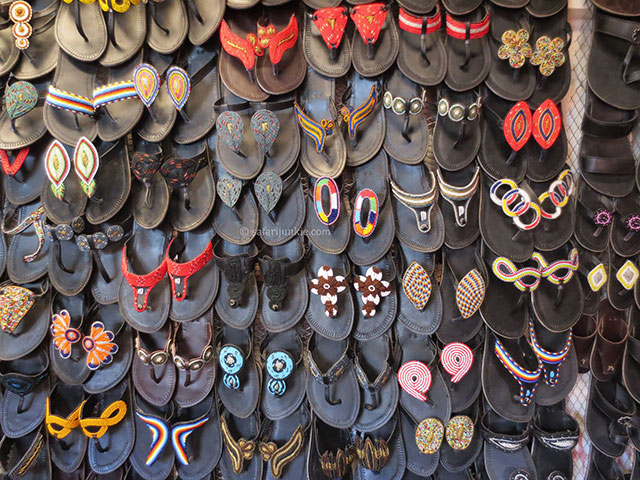Massai sandals from Tanzania - best travel souvenirs - Safari Junkie
