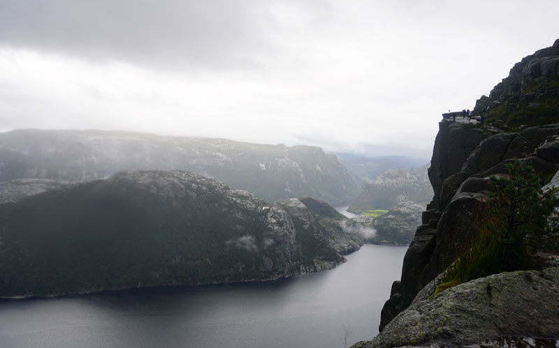 Trail approaching Pulpit Rock in Norway