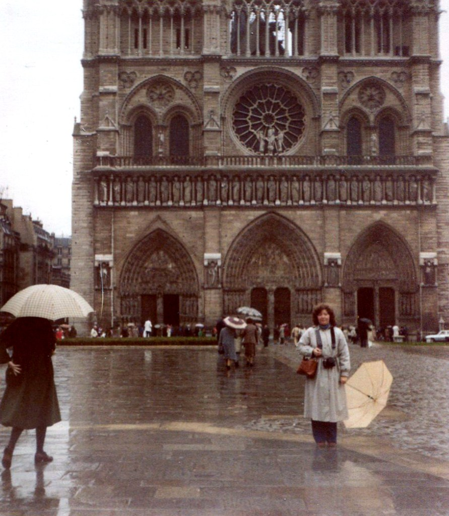 Notre Dame in 1980 - First visit to Paris