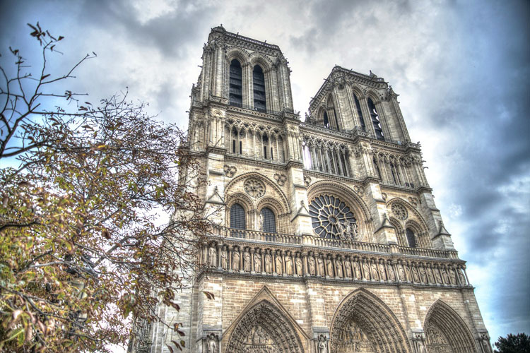 Bell towers of Notre Dame de Paris
