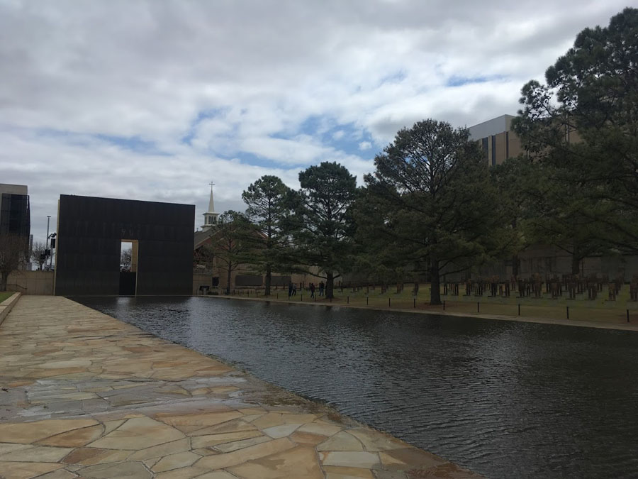 Outdoor memorial for Oklahoma City bombing victims