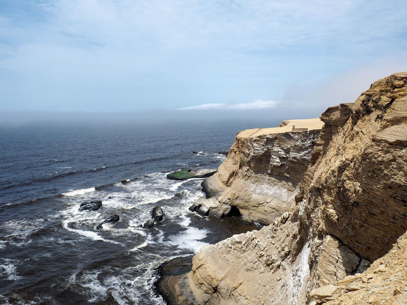 Photo of rocky coastline at Paracas National Reserve in Peru