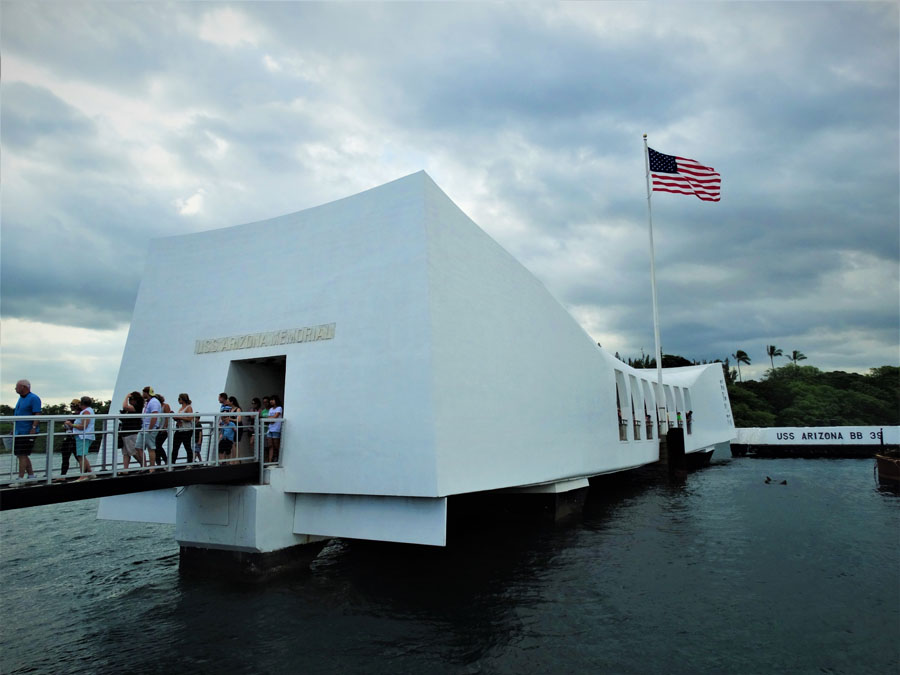 USS Arizona memorial at Pearl Harbor