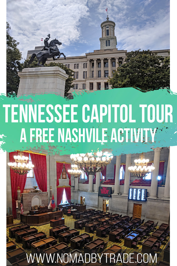 Collage of Tennessee State Capitol images with text overlay