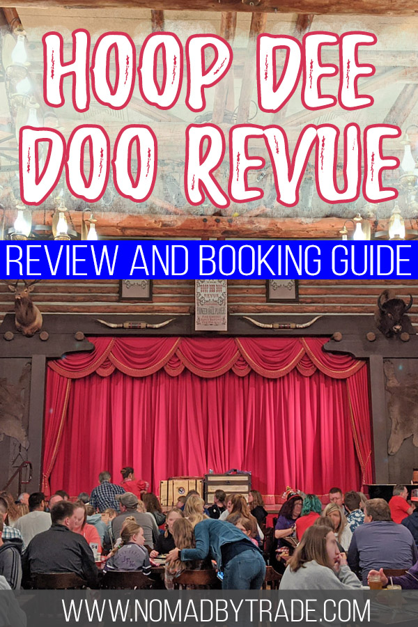 "Photo of the stage at Fort Wilderness' Hoop Dee Doo Revue with text overlay reading ""Hoop Dee Doo REvue review and booking guide"""