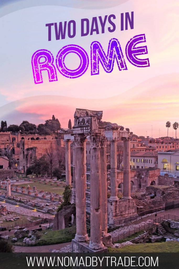 Want to see the best of Rome, Italy in just two days? This is the perfect weekend itinerary for two days in Rome and the Vatican City. Including the Colosseum, St. Peter's, the Trevi Fountain, and more!