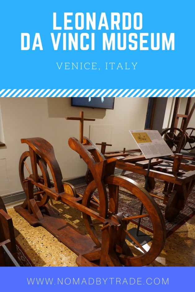 The Leonardo da Vinci Museum in Venice, Italy is full of his inventions and gives visitors a chance to play with them. See a machine gun, tank, ball bearings, automated hammer, and more. #Venice | #Italy | #DaVinci | Things to do in Venice | Venice museums | Family activities in Venice | What to do in Venice
