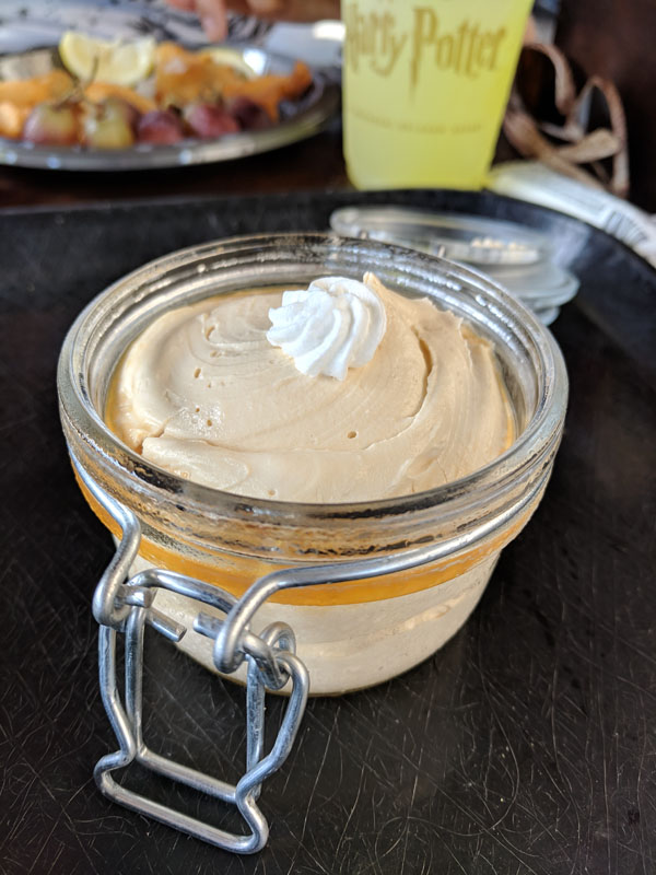 Butterbeer potted cream at the Wizarding World of Harry Potter