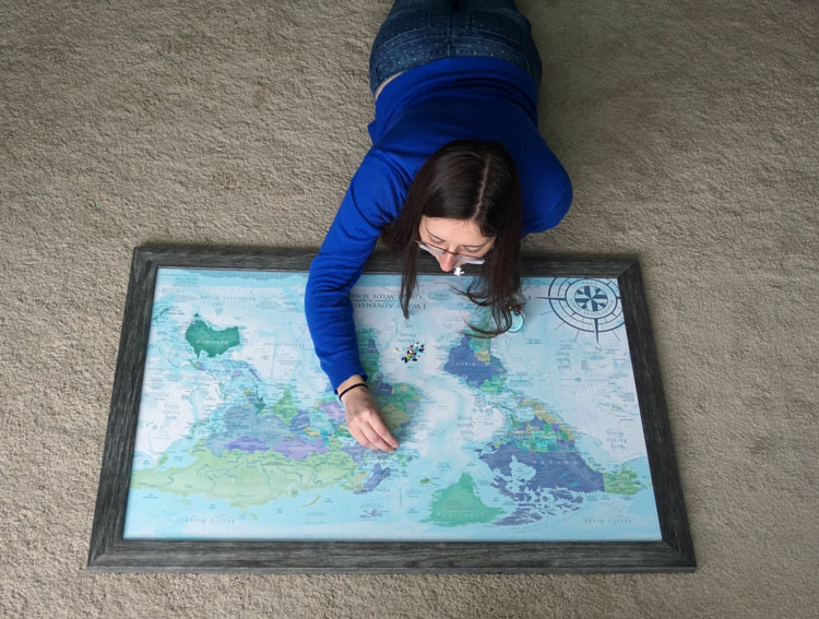 Decorate with a Custom Pushpin Travel Map