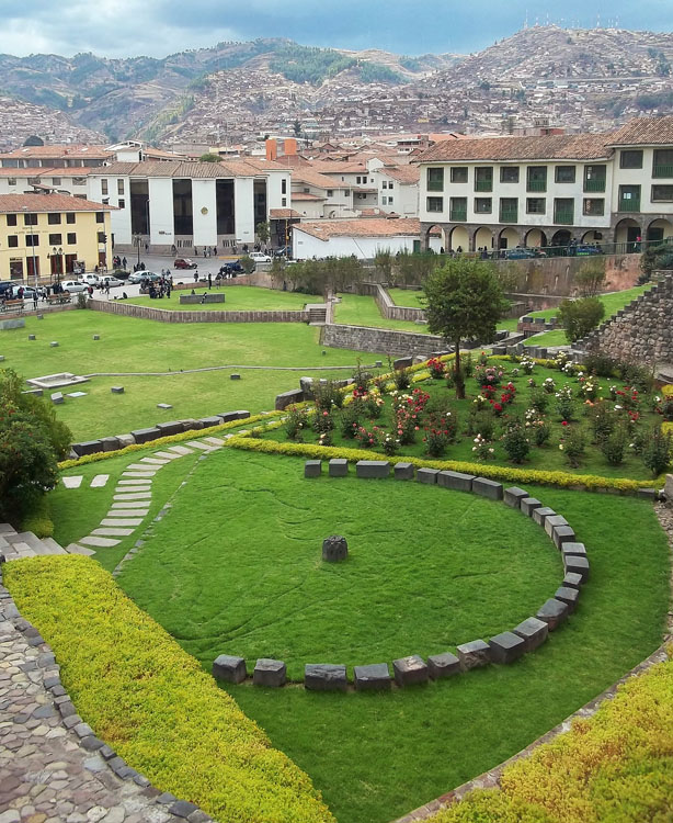 Gardens in the Qorikancha in Cusco