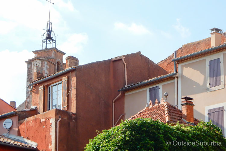 Historic buildings in Roussillon, France