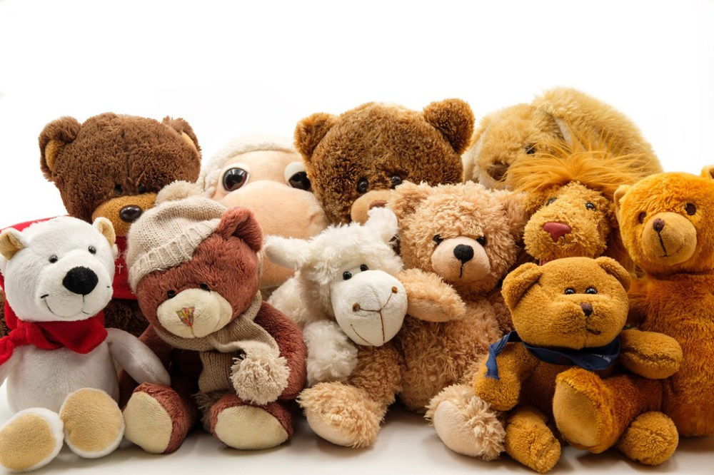 Large group of teddy bears