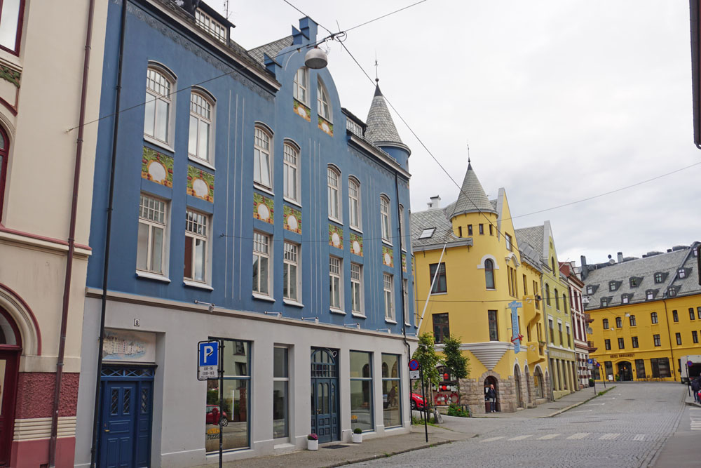 Art deco architecture in Alesund, Norway