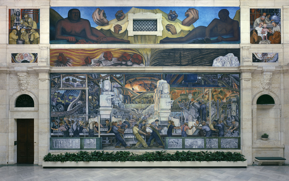 Mural of auto workers