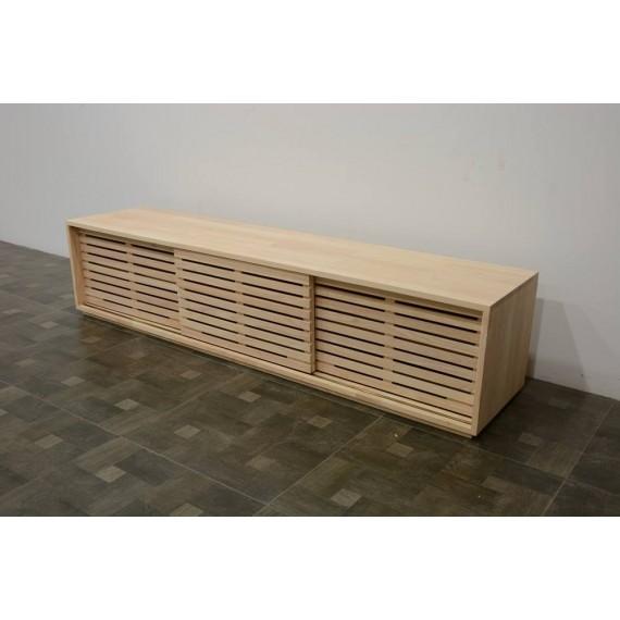 meuble tv 3 portes persiennes 200cm
