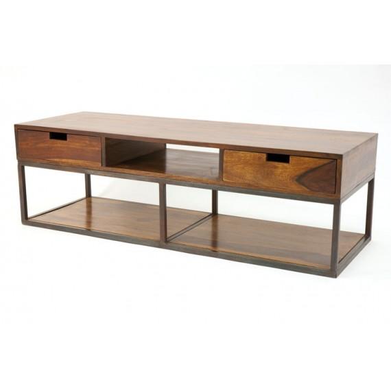 meuble tv bas bois et metal