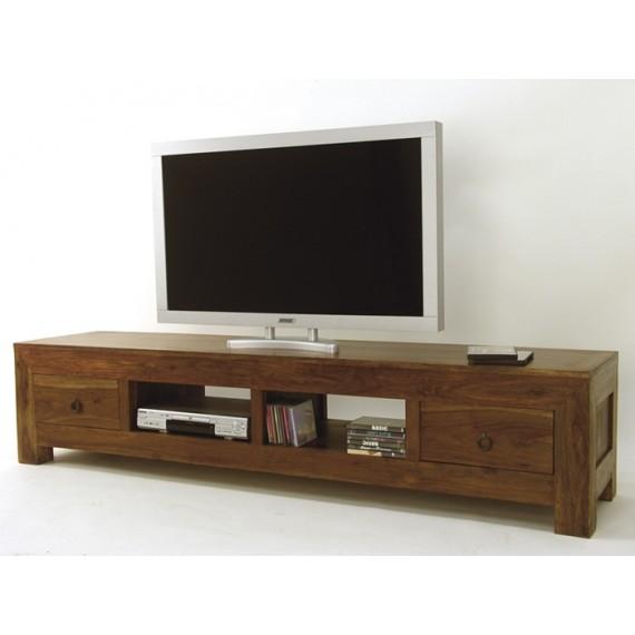 meuble tv long 2 tiroirs 2 niches hindi