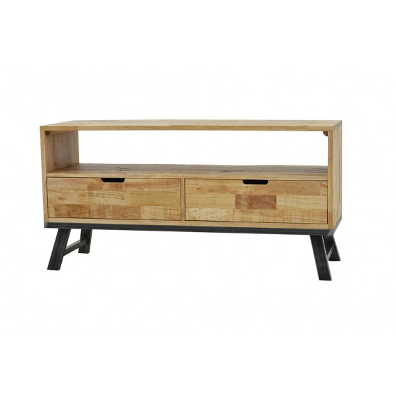 meuble tv vintage industriel 2 tiroirs
