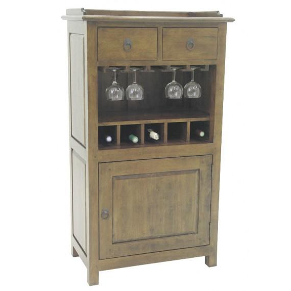 meuble bar avec porte verres yugur couleur personnalisable