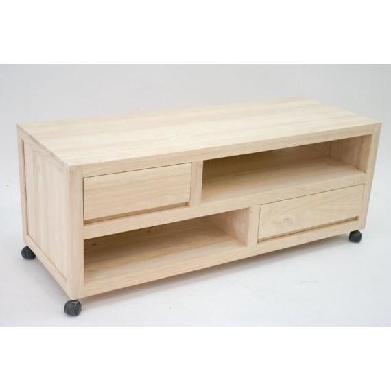 meuble tv petit modele sur roulettes sami