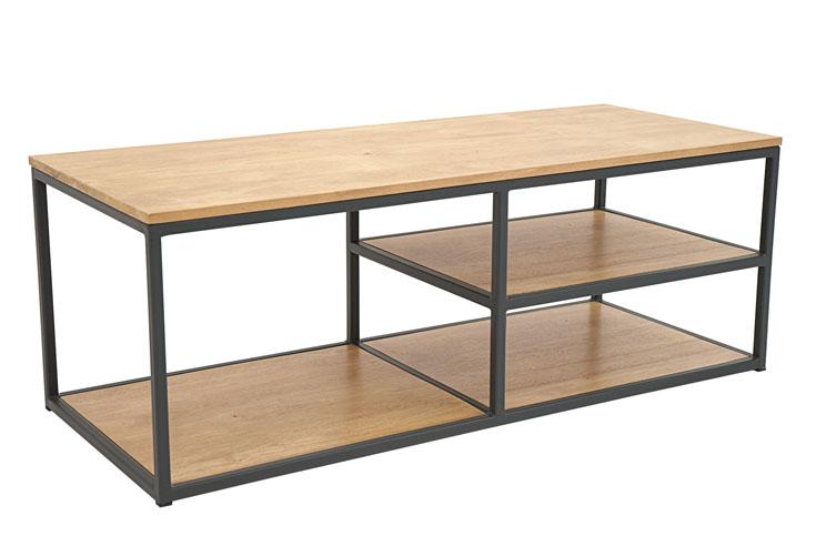meuble tv bois fer minimaliste