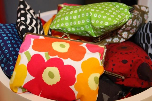 Small pouches in the iconic Marimekko print design. (Source: Wikimedia)