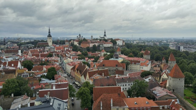 View over Tallinn from St Olaf's church.