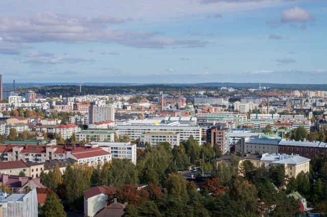 View over Tampere from Pyynikki Observation Tower.