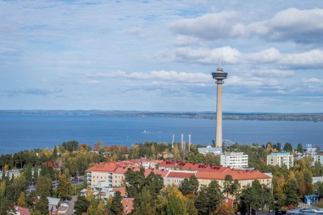 Näsinneula Observation Tower in Särkänniemi Adventure Park, Tampere.